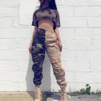 Camouflage Skateboard Womens Cargo Pants Leggings Desert Fea...