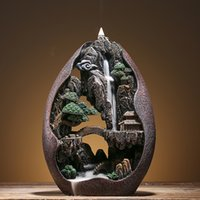 Backflow incense burner high mountain flowing water creative...