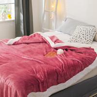 Bonenjoy Couverture en molleton Throw sur le lit King Size simple Reine douce et chaude Plaid hiver Sofa Flanelle Koc Throw Blanket