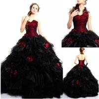2020 Vintage Gothic Evening Dresses Sweetheart Flowers Hallo...