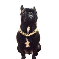 Colliers pour animaux de compagnie Colliers Colliers épais Chaîne en or Plastique identifié Collier de sécurité Chiot Chippy Fournitures Accessoires de chien