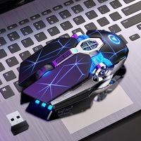 Gaming mouse recarregável silencioso sem fio led backlit 2.4g USB óptico ergonômico gaming mouse óptico para pc laptop jogo de computador ratos