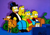Alec Monopoly Graffiti art The Simpsons Home Decor Handpaint...