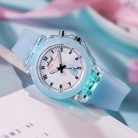 Fashion Crystal Pupils Children's Luminous Silicone Watch Cartoon LED Flash Light Child Boys Girls Watches Electronic Colorful Light Source