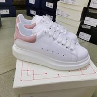 Kutusu ile Erkekler Yansıtıcı Sneakers 3M Kadınlar Platformu Boy Sneakers Deri Eğitmenler Düz Süet Spor Günlük Ayakkabılar Parti düğün ayakkabı