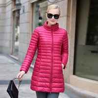Women Ultra Light Duck Down Coat Long Padded Jacket Slim Win...