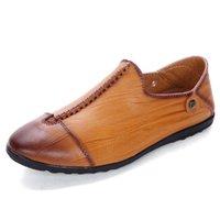 Внешнеторговые Приграничный мужские случайные одиночные ботинки 2018 осень новой мужской набор нога ленивой обувь мода вождение обуви оптом