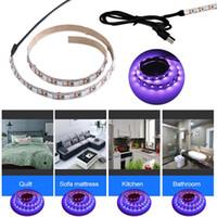 0.5m 1m LED 조명 UVA + UVC LED 소독 램프 USB 5V 스트립 조명 홈 청정 공기 죽이는 자외선 조명.