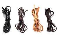 20M / серия Real Подлинная коровы кожаный шнур Ширина Плоский веревочки ожерелье браслет DIY ювелирных аксессуаров 4мм