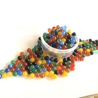 6 mm 8 mm Jade Rubis Terp Perles Quartz Dab Perles Boules Insert pour filer Carb Caps Quartz Banger Nails verre d'eau Bangs Dab Rigs