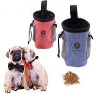 Tragbare Haustier Hund Treat Pouch Outdoor Training Food Storage Taschen Abnehmbare Feeder-Tasche mit Tasche Welpen Snack Belohnung Hüfttasche