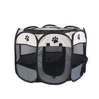 На открытом воздухе для больших собак Pet дома дышащего Портативного собака Tent Закрытого Складных Собаки Дом Octagon Pet манежика