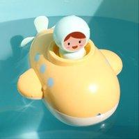Cartoon sottomarino Wind-Up Giocattolo, possibile spruzzare acqua, Bagnetto Companion Giocare in Toy lavoro Water Clock, per Natale Kid Regalo di compleanno, 2-2