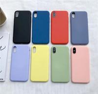 Tampa Liquid Gel de silicone sólido de borracha à prova de choque Phone Case para Apple iPhone XS Max XR X 8 Plus 7 6 6S Com Retail Box