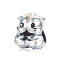 Mode Vintage 925 Sterling Silve Hoge Poolse Leuke Hamster Charms Fit European Charm Armband DIY Sieraden Meisjes