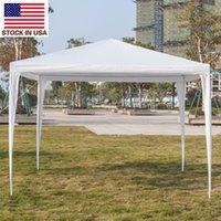 الزفاف الأبيض خاص في الهواء الطلق حزب الظل المحمولة نزهة المظلة 3 × 3M خيمة للماء مع أنابيب دوامة