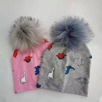 Outono criança crianças infantis pompom cap chapéu de algodão Skullies gorros das crianças para os bebés recém-nascidos e meninos