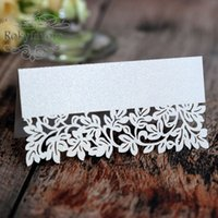 100pcs Laser Cut Leaf Paper Place Card Party Favors Table De...