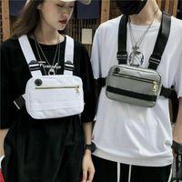 Unisex Moda Hip Hop petto Sacchetto tattico della maglia della cinghia pacco petto Trendy Style rettangolo Borse Rig