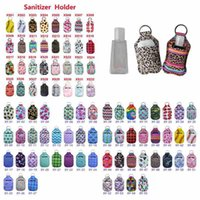 98 Styles Neoprene Hand Sanitizer Bottle Holder 30ml Lipstick Holders Lip Cover Handbag Keychain Pouch Chapstick Holder Party Favor CYZ2508