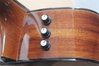 Spedizione gratuita Personalizzato 41 pollici Acoustic Electric Guitar, K24, Impiallacciatura in legno Acacia, Chitarra cava, Collo in mogano, Pickup EQ Bbdband