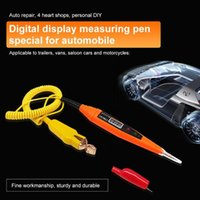 25-32V 자동차 디지털 회로 시험기 연필 전기 진단 도구 전원 프로브 전압 테스트 펜 감지기 구리 LCD 화면