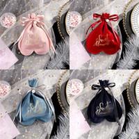 Tecido saco de pano coração Sack forma do amor Bolsas Bundle cordão bolso Palma Jóias presente de doces Pocketes Hot Venda 1 99mc B2