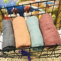 60 x 60cm 70% qualidade cobertores bambu musselina tecido do bebê swaddle bebê musselina melhor do que infantil de algodão Multi-uso Blanket Enrole