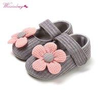 Premiers marcheurs Weixinbuy Automne Toddler Chaussures de bébé Fille Anti-Slip Casual Walking Fleur Sneakers Soft Sold