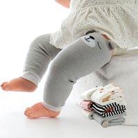 Genou coton Cartoon doux bébé nouveau-né Chaussettes enfant en bas âge Ramper Tapis hiver chaud d'impression 2 paires Kneecap Sock