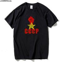 Männer T-shirts Russisch T-Shirt Mann UdSR Sowjetunion Moskau Russland Herren T-Shirts Baumwolle O Neck One Punch and Stars Tops P37