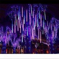 LED Işıklar 30CM 50cm 80CM Tüp meteor yağmuru Yağmur Garland Noel Ağaçları Dekorasyon Açık Bahçe Park Street Luces Navidad