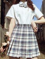 Женская косплей HomeComing юбки мода униформа плед с плиссию линии юбки пледа вскользь над колено юбки женская одежда