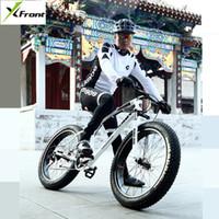 새의 montain 자전거 카본 스틸 프레임 4.0 인치 폭 타이어 (27) 속도 듀얼 디스크 브레이크 아웃 도어 스포츠 해변 눈 MTB 자전거