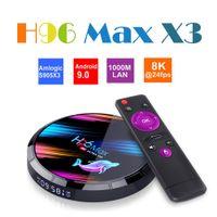 H96 MAX X3 Android 9.0 Smart TV Box 4GB Amlogic S905X3 2.4G / 5G Wifi BT4.0 1000M 8K Media Player PK H96MAX