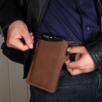 في الهواء الطلق عارضة حزام الخصر حامل الهاتف المحمول حقيبة جلد الحقيبة المحفظة لمدة 5 6 هواتف بوصة