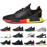 adidas Cheap Nucleo nero NMD R1 V2 Mens Running Shoes Città del Messico Oreo Olimpiadi Classic Aqua toni metallici dell'oro Uomo Donna Giappone Sport Sneakers