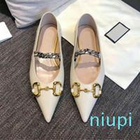Hot2020 estate scarpe da sera donna nuovo progettista 100% del marchio di moda in pelle scarpe a punta metallica lettera di lusso della signora piatto dimensioni scarpe casuali 35-41