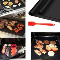 33 * 40 cm BBQ Grill Matte Antihaft wiederverwendbarer Abdeckung Kochen Backmatte Mikrowellenmatten Kochbare Grillblatt Blasekissen Wärmebeständigkeit Grillmatten BBQ