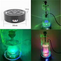 Base fascio laser caldo per hooka e vetro bong con RGB led accendino creando effetto luce fredda con batteria al litio 5000mAH