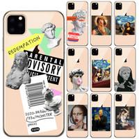 Estética de lujo arte de la letra Etiqueta suave de la caja silicona para el iPhone 11 Pro XS XS Max XR X 6 7 8 6S Plus SE 2020 Liberty Casos