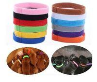 Welpen-ID Collar Identification ID Halsbänder Band für Whelp Welpen Kitten Haustier Hund Katze Velvet Practical 12 Farben en gros