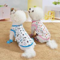 Мода Многоцветная одежда для собак Весна Летнее Пудель жилет домашних животных Щенок одежда Удобная мультфильм дружелюбный 4 5 мд D2
