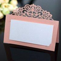 50PCS 레이저 컷 결혼식 초대장 호텔 컨퍼런스 레이스 카드 중공 체크인 테이블 축제 축하 이름 좌석 카드 OzbJ 번호