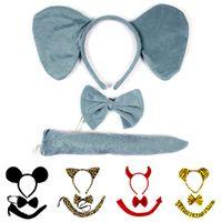 Aksiyon Oyuncak Rakamlar Doğum Günü Partisi Malzemeleri Karikatür Hayvan Şapka Kuyruk Sevimli Kedi Kaplan Tavşan Çizgi Film Şapkalar Çocuklar Dekorasyon Çocuklar için Giydir