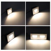 Alüminyum Kare 5W Çift 2x5W Duvar Lambası Led Merdiven Işık 5W Gömme LED Adım Lambası Yolu Duvar Köşe Lambalar AC85-265V Footlights