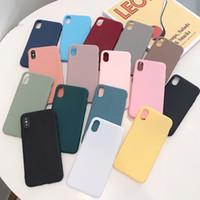 Casi di protezione del telefono antiurto della caramella Ultra Slim TPU per iPhone 6 7 8 x XR 11 Pro Max
