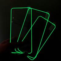 DHL-Screen Celular Protetores 3D Luminous Frente temperado Film vidro Acessórios para Apple iPhone 11 XR 8 XS