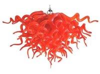 Lampada tradizionale rossa 100% a mano in vetro soffiato lampadari illuminazione lampade a led art lampade per la casa indoor