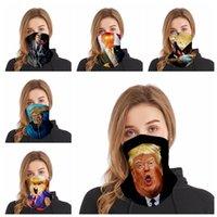 Maske Lustige Trump Gesicht waschbar Druck Staubdichtes Masken im Freien Radfahren Hals Magie einen.Kreislauf.durchmachenschal Partei-Schablonen Supplies RRA3311
